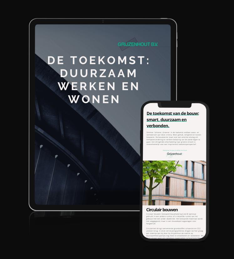 Brochure de Toekomst Duurzaam werken en wonen Grijzenhout